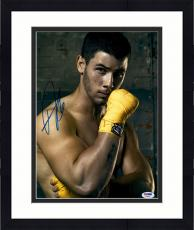 "Framed Nick Jonas Autographed 11"" x 14"" Boxing Photograph - PSA/DNA"