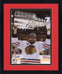 """Framed Nick Leddy Chicago Blackhawks 2013 Stanley Cup Champions Autographed 8"""" x 10"""" with Cup Photograph"""