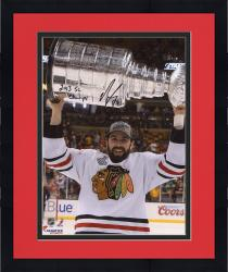 "Framed Nick Leddy Chicago Blackhawks 2013 Stanley Cup Champions Autographed 8"" x 10"" with Cup Photograph with 2013 SC Champs Inscription"