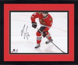 "Framed Nick Leddy Chicago Blackhawks Autographed 8"" x 10"" Red Uniform Shooting Photograph"
