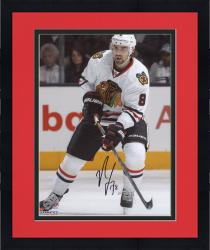 Framed Nick Leddy Chicago Blackhawks Autographed 8'' x 10'' White Uniform Skating Photograph