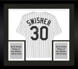 Framed Nick Swisher Chicago White Sox Autographed Replica Pinstripe Jersey
