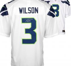 Framed Nike Russell Wilson Seattle Seahawks Super Bowl XLVIII Champions Autographed Limited Jersey - White