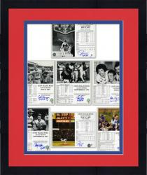 "Framed Nolan Ryan Autographed No-Hitter 8"" x 10"" Photograph Collection with Catchers"