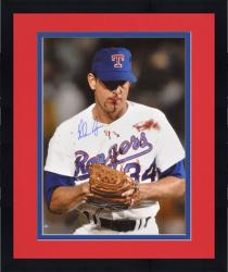 "Framed Nolan Ryan Texas Rangers Autographed 16"" x 20"" Bloody Photograph"