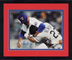 "Framed Nolan Ryan Texas Rangers Autographed 16"" x 20"" Robin Ventura Fight Photograph"