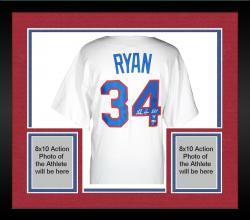 Framed Nolan Ryan Texas Rangers Autographed 1993 Majestic Style Authentic Throwback White Jersey with HOF 99 Inscription