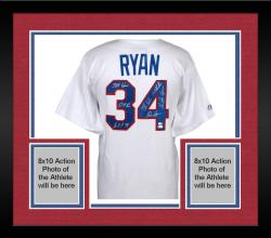 Framed Nolan Ryan Texas Rangers Autographed Majestic Replica Jersey with Multiple Inscriptions - Limited Edition #2-33 of 34