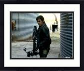 "Framed Norman Reedus Autographed 11"" x 14"" The Walking Dead Holding Crossbow - PSA/DNA COA"
