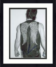 "Framed Norman Reedus Autographed 8"" x 10"" Back Turned Black & White Photograph - Beckett COA"