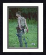 "Framed Norman Reedus Autographed 8"" x 10"" Dragging Weapon Photograph - Beckett COA"
