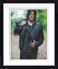 """Framed Norman Reedus Autographed 8"""" x 10"""" Standing Photograph - Beckett COA"""