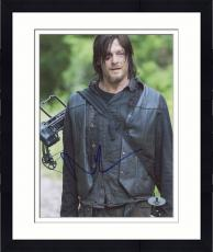 "Framed Norman Reedus Autographed 8"" x 10"" Standing with Mouth Open Photograph - Beckett COA"