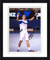 Framed Novak Djokovic Autographed Picture - 8x10