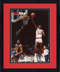 Framed Hakeem Olajuwan Houston Rockets Autographed 8'' x 10'' vs. Utah Jazz Photograph