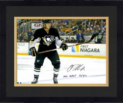 "Framed Olli Maatta Pittsburgh Penguins Autographed 16"" x 20"" Photograph with NHL Debut 10/3/13 Inscription"