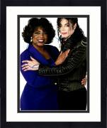 """Framed Oprah Winfrey Autographed 11"""" x 14"""" Hugging Michael Jackson  Photograph - Beckett COA"""