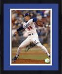 Framed Orel Hershiser Los Angeles Dodgers Autographed 8'' x 10'' Pitching Photograph