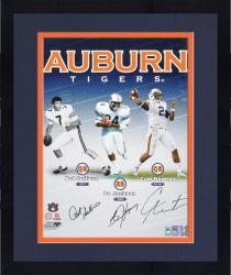 "Framed Pat Sullivan, Bo Jackson and Cam Newton Auburn Tigers Heisman Trophy Winners Multi Signed 16"" x 20"" Photograph"