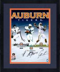"Framed Pat Sullivan, Cam Newton and Bo Jackson Auburn Tigers Autographed 16"" x 20"" Photograph"