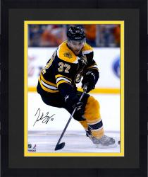 "Framed Patrice Bergeron Boston Bruins Autographed 16"" x 20"" Black Uniform Skating Photograph"