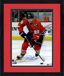 "Framed Patrick Kane Chicago Blackhawks Autographed 16"" x 20"" Vertical Skating Photograph"