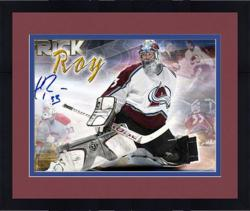Framed Patrick Roy Autographed Photograph - avalanche Career Panoramic