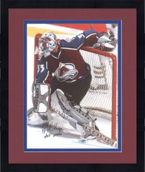 "Framed Patrick Roy Colorado Avalanche Autographed 16"" x 20"" Photo -"