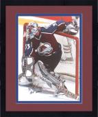Framed Patrick Roy Colorado Avalanche Autographed 16'' x 20'' Photo -