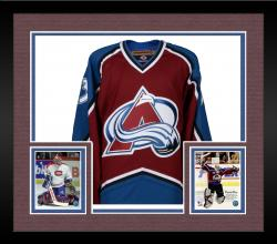 Framed Patrick Roy Colorado Avalanche Autographed Burgundy Jersey with HOF 2006 Inscription