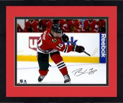 "Framed Patrick Sharp Chicago Blackhawks Autographed Red Jersey Shooting 16"" x 20"" Photograph"