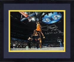 """Framed Paul George Indiana Pacers Autographed 16"""" x 20"""" Dunk Contest Photograph with Watch Out Roy Inscription"""