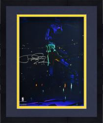 """Framed Paul George Indiana Pacers Autographed 16"""" x 20"""" Glow in the Dark Photograph"""