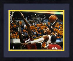 "Framed Paul George Indiana Pacers Autographed 16"" x 20"" Horizontal Dunk Photograph"