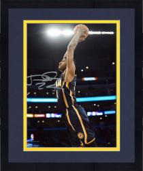 """Framed Paul George Indiana Pacers Autographed 8"""" x 10"""" Blue Dunk Photograph"""