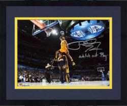 """Framed Paul George Indiana Pacers Autographed 8"""" x 10"""" Dunk Contest Photograph with Watch Out Roy Inscription"""
