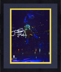 """Framed Paul George Indiana Pacers Autographed 8"""" x 10"""" Glow in the Dark Photograph"""