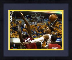 """Framed Paul George Indiana Pacers Autographed 8"""" x 10"""" Horizontal Dunk Photograph with Posterized Inscription"""