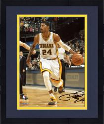 """Framed Paul George Indiana Pacers Autographed 8"""" x 10"""" Throwback Photograph"""