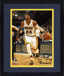 """Framed Paul George Indiana Pacers Autographed 8"""" x 10"""" Throwback Photograph with Throwback Inscription"""