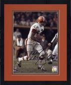 Framed Paul Warfield Cleveland Browns Autographed 8'' x 10'' Run With Ball Photograph