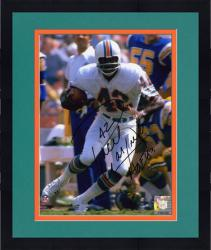 "Framed Paul Warfield Miami Dolphins Autographed 8"" x 10"" Run With Ball Photograph with HOF 83 Inscription"