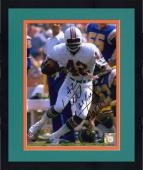 """Framed Paul Warfield Miami Dolphins Autographed 8"""" x 10"""" Run With Ball Photograph with HOF 83 Inscription"""