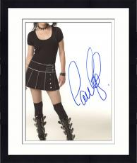 """Framed Pauley Perrette Autographed 8"""" x 10"""" NCIS Posing with Skirt & Boots Photograph - Beckett COA"""