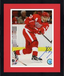 "Framed Pavel Datsyuk Detroit Red Wings Autographed 8"" x 10"" Photograph"
