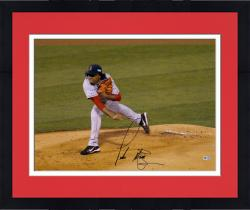 """Framed Pedro Martinez Boston Red Sox Autographed 16"""" x 20"""" Horizontal Pitch Photograph"""