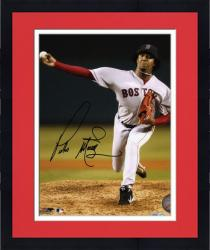 "Framed Pedro Martinez Boston Red Sox Autographed 8"" x 10"" Pitching Photograph"