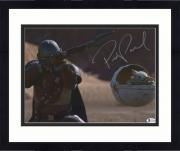 "Framed Pedro Pascal Star Wars Autographed 11"" x 14"" The Mandalorian Shooting Photograph"