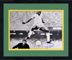 "Framed Pele Brazil Autographed 16"" x 20"" Horizontal Scoring Photograph"