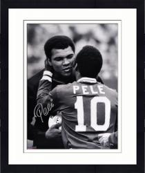 """Framed Pele Brazil Autographed 16"""" x 20"""" with Ali Photograph"""